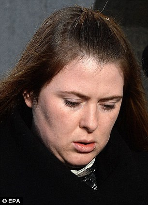 Bereft: The soldier's estranged wife, Rebecca Rigby, pictured today, who left the court sobbing today as Adebolajo described his death