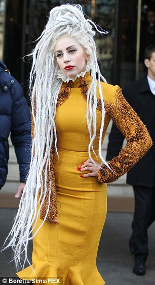Lady Gaga flaunts a new look with dreadlocks and a powered