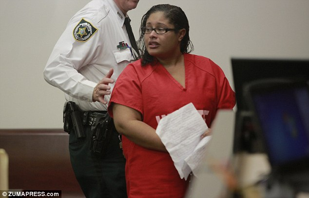Married mother Ethel Anderson, 30, was told she was a 'parents' worst nightmare,' on Monday as she was jailed in Tampa, Florida.