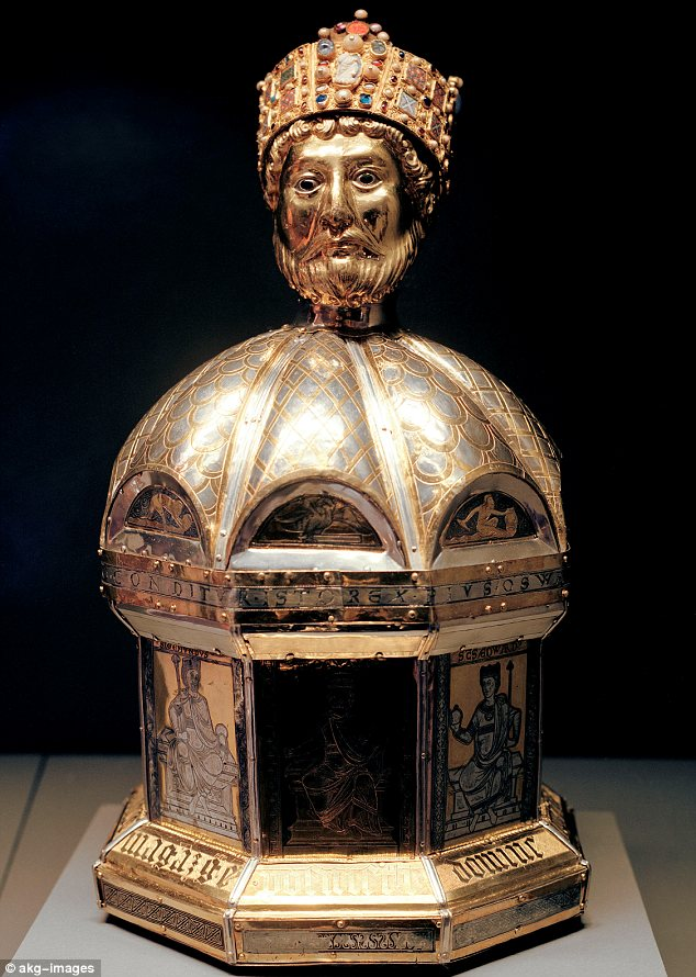 Fame: A decorated box made in Germany in the 12th century to hold some of the remains of King Oswald, who was venerated across Europe as a saint and martyr