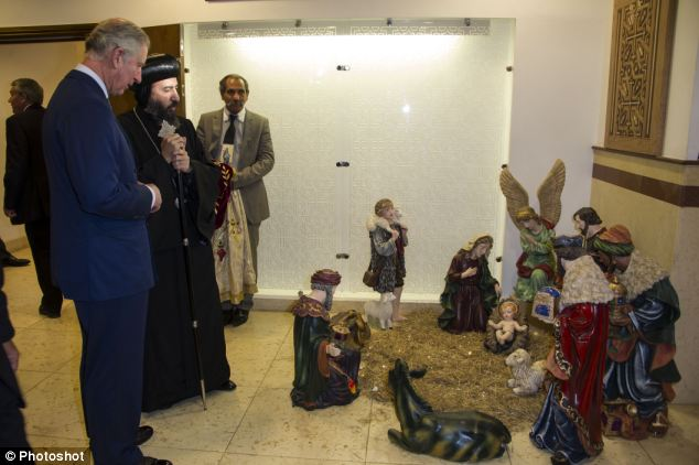 Prince Charles said the issues affected Arab Christians in Syria, Iraq, Palestine and Egypt