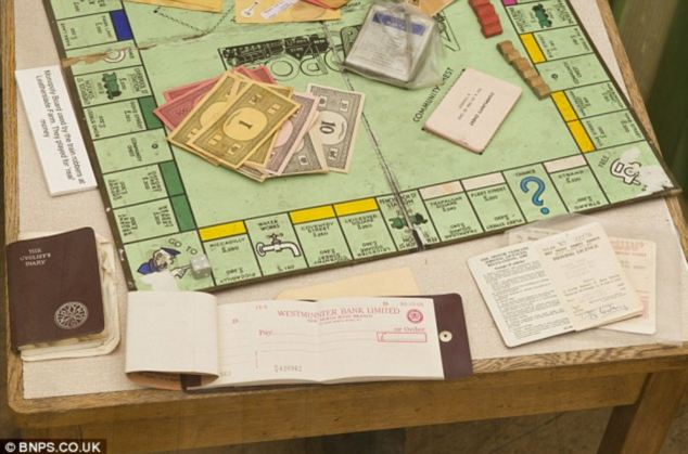 The Monopoly set played by the Great Train Robbers while lying low at Leatherslade Farm