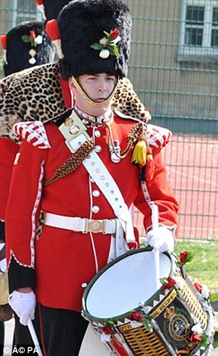 Proud career: Lee Rigby joined the Army in July 2006 and joined the Corps of Drums and was later posted to Afghanistan