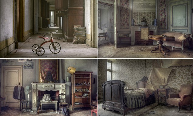 Inside the abandoned Belgian mansion brimming with