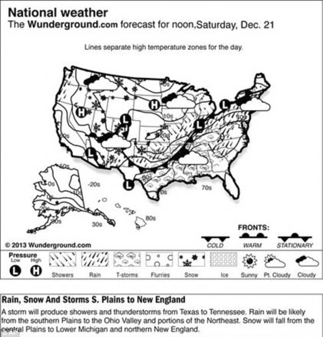 Weekend forecast: Much of the nation was bracing for something, with freezing rain then snow likely in the northern Plains and downpours expected from St. Louis through Appalachia