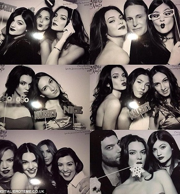 Party time! The photobooth at Kris Jenner's Christmas Eve bash certainly saw some sights from the Kardashian clan