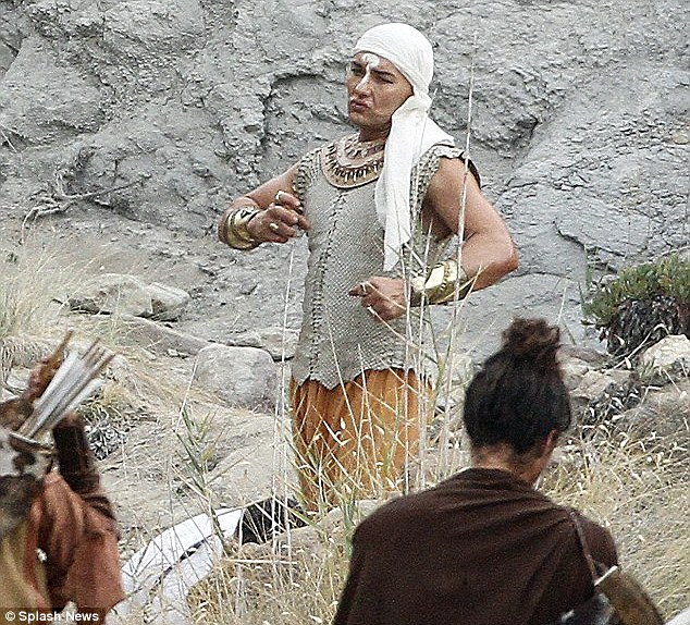 Joel Edgerton is almost unrecognisable as he steps into the royal sandals of Ramses while filming Ridley Scott's Exodus