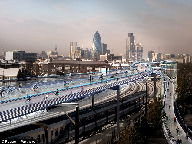 I want to ride my bicycle: The SkyCycle, as proposed new network of cycle paths built above London's railways