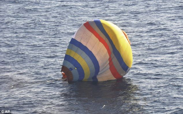 Rising tensions: A hot-air balloon a Chinese cook took a ride in caused a diplomatic incident recently when it was discovered by Japanese coast guard in waters near the East China Sea islands called Senkaku by Japan and Diaoyu by China