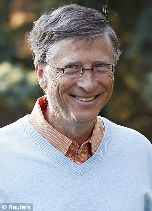 Back on top: Microsoft boss Bill Gates is back at the head of the world's rich list as he added over $15billion to his total wealth