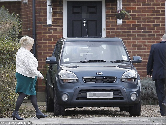 Ex-wife: Charmain Powell, the former wife of Ronnie Biggs, is seen today on her way to the funeral