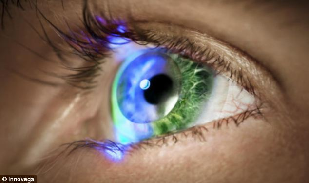 Contact lenses that allow the wearer to see high-definition virtual screens are to be unveiled in Las Vegas next week