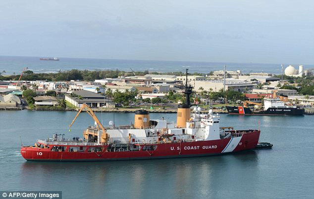 American ship: The Polar Star in Hawaii en route to conduct missions in the Antarctic on December 13. The Coast Guard has accepted an Australian request to rescue the marooned Russian and Chinese ships