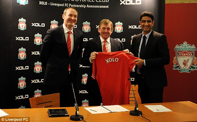 Signed, sealed, delivered: Liverpool announced a three-year marketing partnership with XOLO on Monday