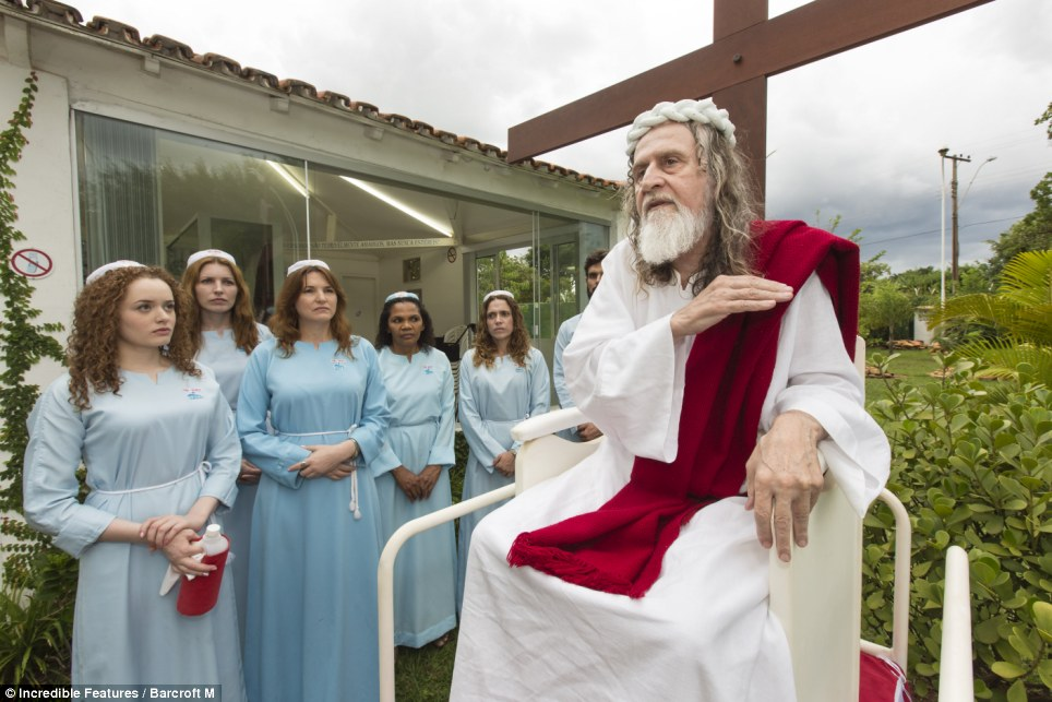 I am Jesus: Inri Cristo speaks to his disciples from one of his mobile pulpits at his church compound outside the capital of Brasilia