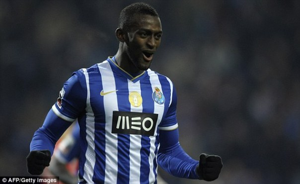 Wanted: Arsenal have made an approach for Porto striker Jackson Martinez (above)