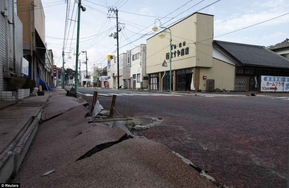 Devastated: Once the nuclear clean-up has finished, it will be just the beginning for former residents of towns like Tomioka, who must then repair their homes