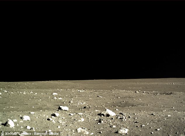 And now what? A photo taken from the Chang'e-3 lander shows the barren landscape of the Moon
