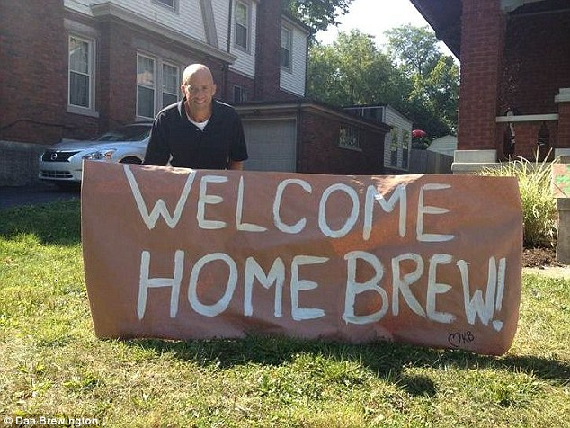 Welcome home!: The picture that welcomed Dan Brewington home after his prison sentence
