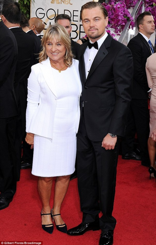 Date night: Leonardo walked the red carpet with his mother Irmelin