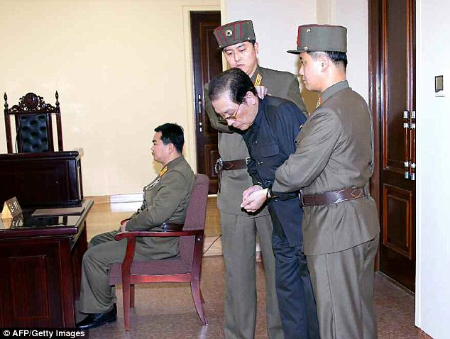 Executed: Jang Song Thaek was paraded before a court as a 'traitor' before he was killed