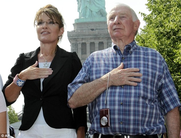 Harassed? Sarah Palin's father Chuck Heath Sr, pictured right, has been 'horribly harassed' by the IRS, her brother has claimed