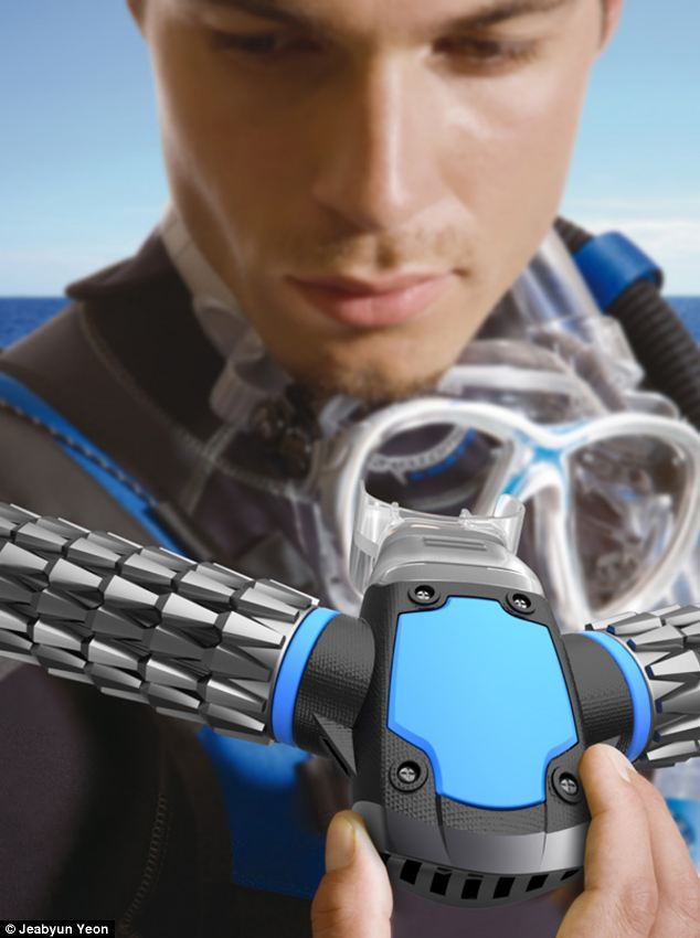 Underwater Breathing Mask Without Oxygen Tanks : underwater, breathing, without, oxygen, tanks, James, Gadget, Turns, FISH:, Concept, Breathe, Underwater, Without, Oxygen, Tanks, Daily, Online