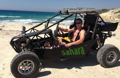 Sun, sea, dune buggy adventures... and strictly no dancing ...