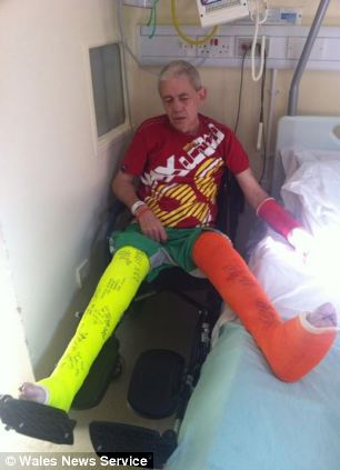 Woodhouse chased Kevin Green (pictured) and left him with two broken legs and a broken arm, the court heard