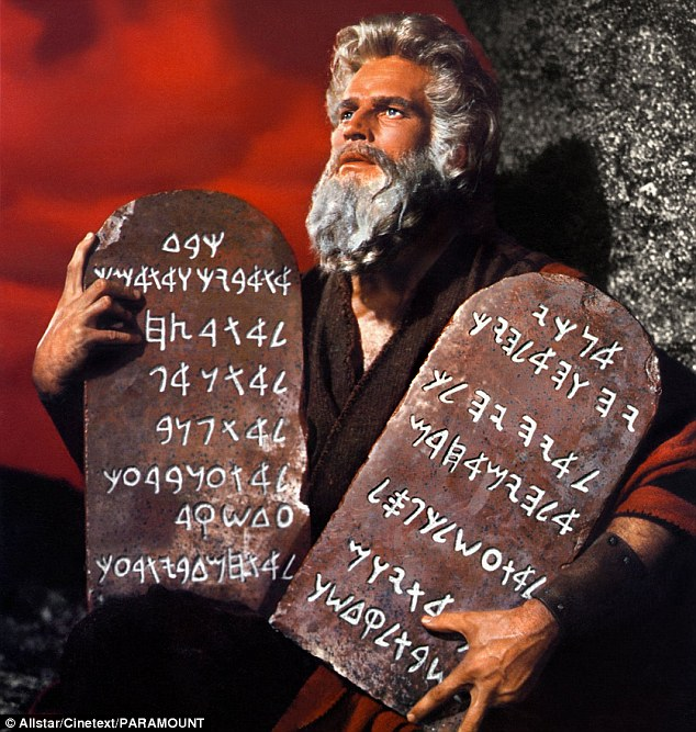 Image result for moses with commandments, charlton heston, photos