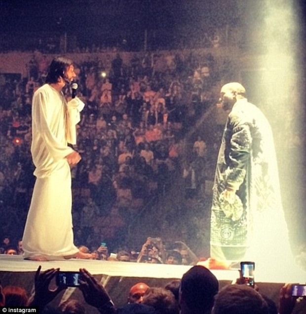 Meeting Jesus: Kanye recently claimed he was not far from the status of the Messiah