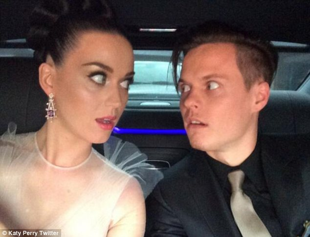 'Here come the Hudsons!' Katy Perry shared this quirky picture of herself and her singer brother David on their way to the Grammys