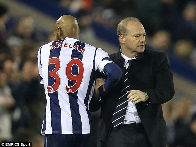 Sticking by him: West Brom boss Pepe Mel insists Anelka will play at Aston Villa despite the row