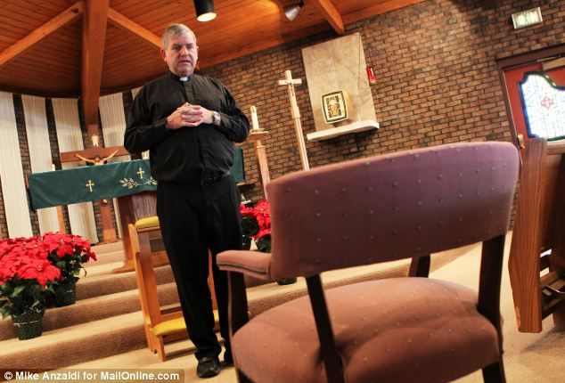 Father Michael Maginot explains how he performed three exorcisms - two in English and one in Latin - on Latoya Ammons in his church, St. Stephen Martyr in Merriville, Indiana