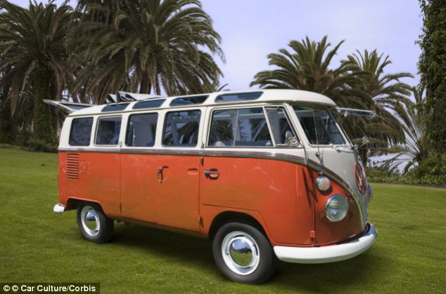 Party bus: Obama and the Choom Gang used to go to parties in the hills in Ray's surf van (file photo) and get high. Weed was rife in Hawaii during the counter-culture years of the 1970s and often smoked openly