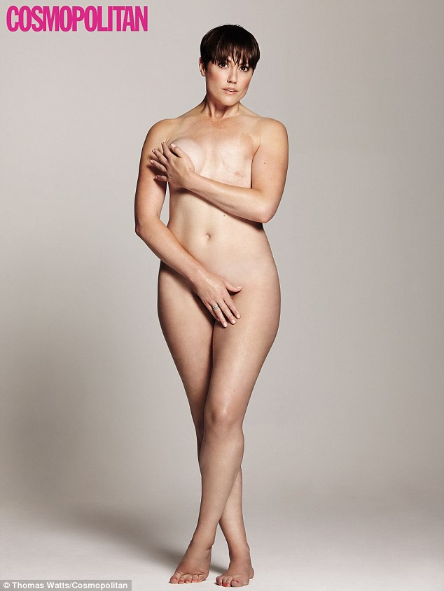 Hannah Foxley, who recently had a mastectomy, has posed naked on the cover of Cosmopolitan to inspire other women