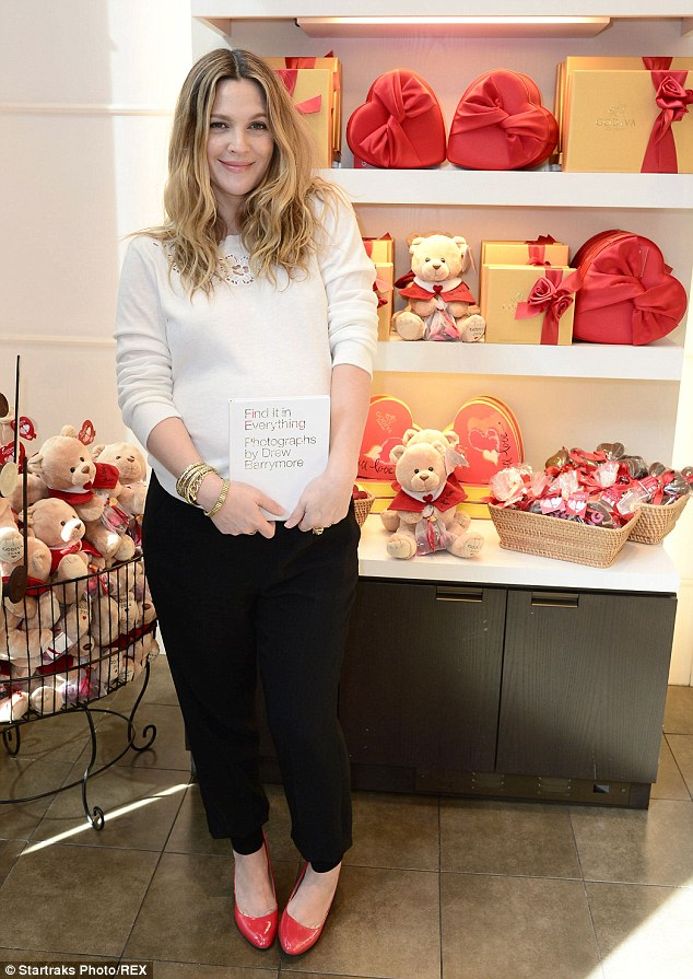 Drew Barrymore Glows As She Visits A Chocolate Shop Ahead