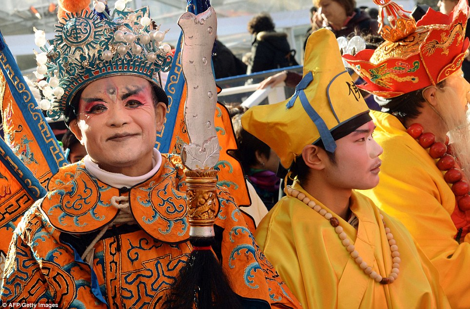 Chinese New Year was marked in cities around the world including celebrations in Paris