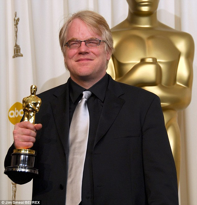 Dead at 46: Philip Seymour Hoffman with his Oscar for Capote at the 78th Academy Awards press room, Los Angeles, in 2006