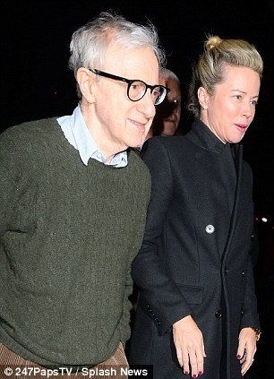 Woody Allen stepped out with a few people, but was trying his best to avoid attention
