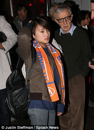 Woody Allen stepped out for a NY Knicks basketball game following his daughter Dylan Farrow's letter to the New York Times detailing sexual molestations allegations against him