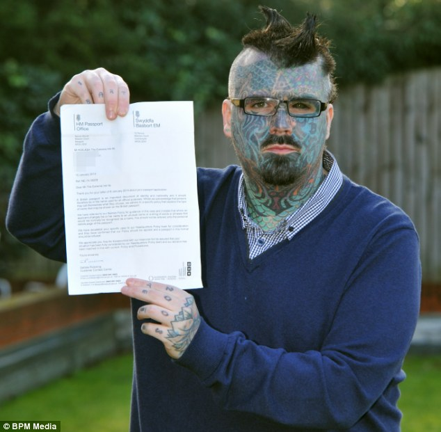 Britain's Most Tattooed Man Fails In Application For