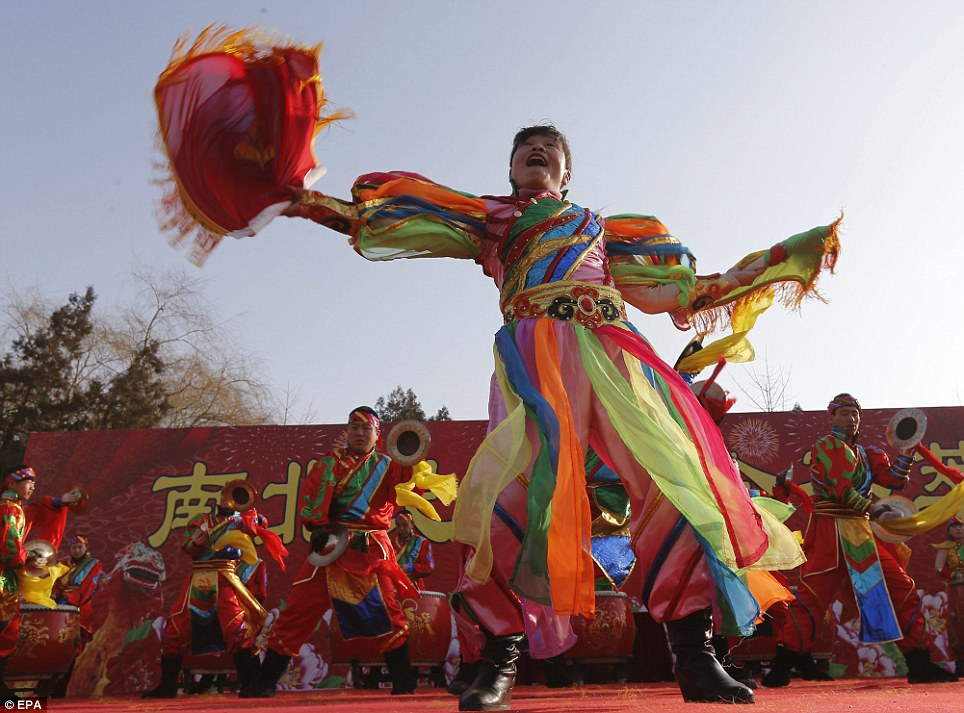 Celebrations in Beijing were low-key compared to other years but still full of colourful performances