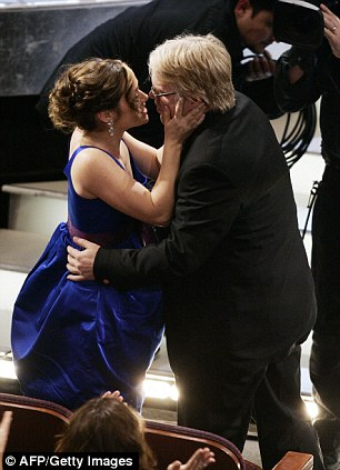 Triumph: Actor Philip Seymour Hoffman and his wife Mimi O'Donnell arrive at the Vanity Fair Oscar Party at Mortons after winning the award (right) for Best Actor in a leading role for Capote on March 5, 2006 in West Hollywood, California