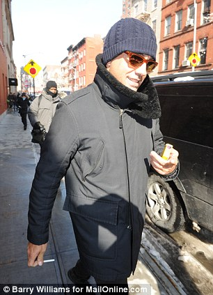Friends: Third Watch star Bobby Cannavale outside the West Village apartment where Mimi O'Donnell lives as he arrived to offer his condolences for the loss of her dead partner, Philip Seymour Hoffman