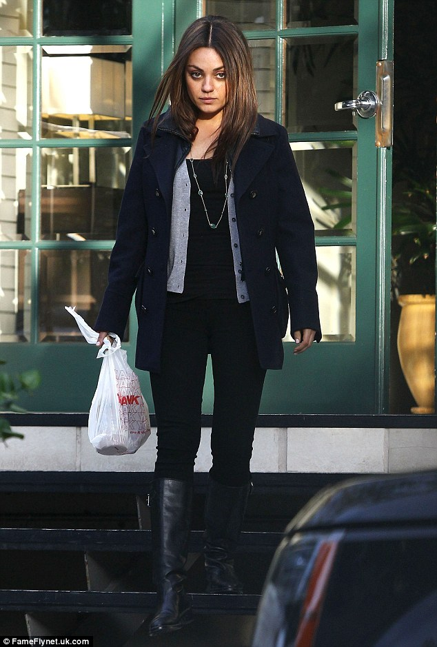 Mila Kunis Does Layered Chic As She Leaves Her Mothers