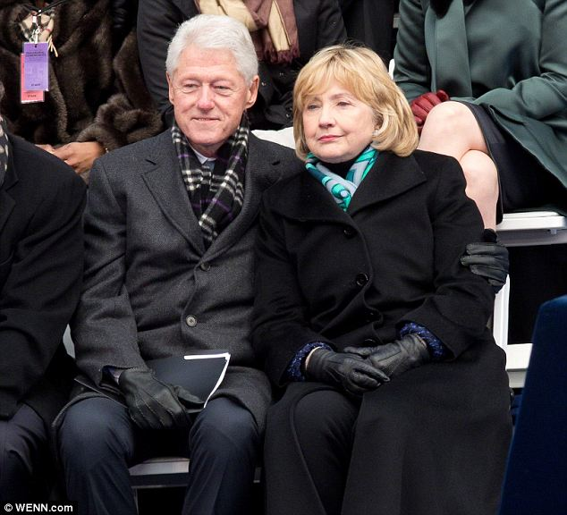 Platonic: Sizemore claims that Hurley was told by Bill in 1998 that he and Hillary loved each other but had been living in separate bedrooms and having separate romantic lives for years (seen together on January 1 of this year)