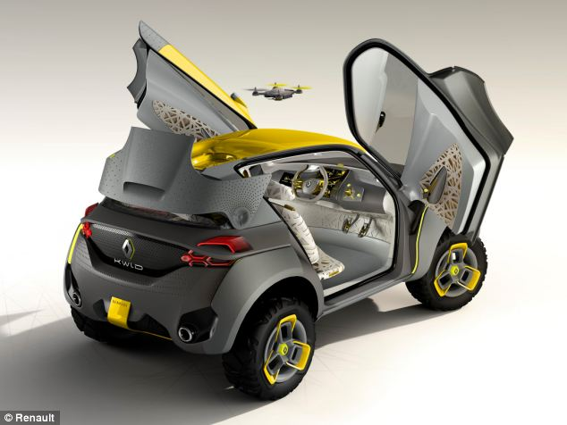 The concept also has upward opening doors, and is designed to be driven off road.