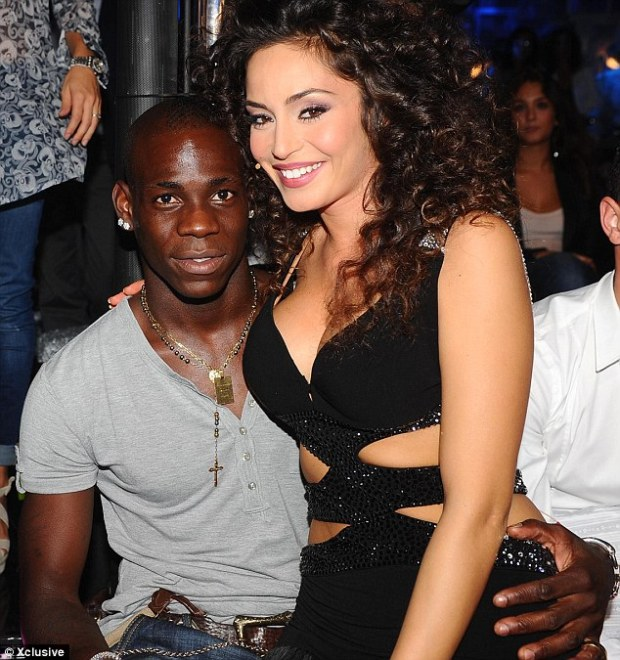 Proof: Mario Balotelli (pictured left in September 2011) had refused to acknowledge that Pia was his child despite his ex-girlfriend Raffaella Fico, right, confirming he was