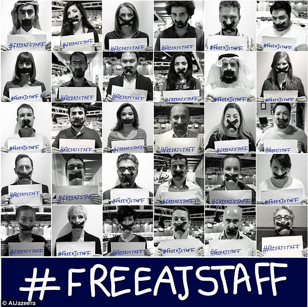 Campaign: The arrest and detention of journalists has sparked an outcry among civil rights groups and western governments
